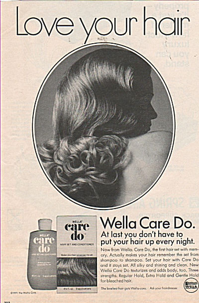 Wella Care do hair set & conditioner ad 1971 (Image1)