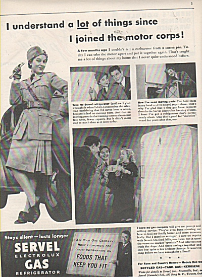 Servel electrolux gas refrigerator ad - SHIRLEY TEMPLE (Image1)