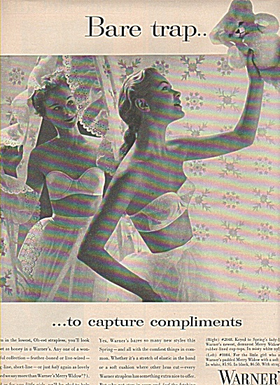 Warner's bras - girdles- corselettes ad 1955 (Image1)