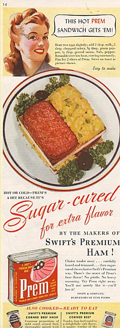 Prem - Swift's premium ham ad 1952 (Image1)