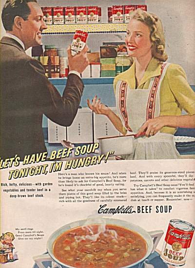 Campbell's beef soup ad 1942 (Image1)