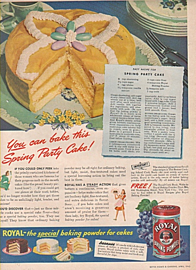 Royal Baking powder ad 1942 (Image1)