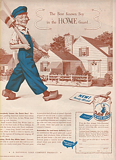 Dutch boy white lead paint ad 1942 (Image1)