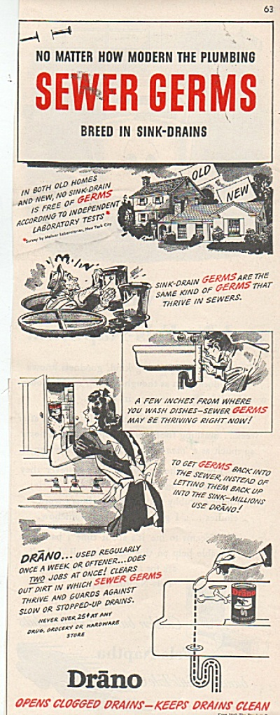 Drano sink cleaner ad 1942 (Image1)