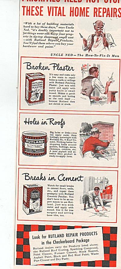 Rutland re pair products ad 1942 (Image1)