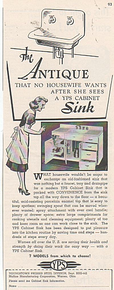 Youngstown pressed stell- Sink ad 1942 (Image1)