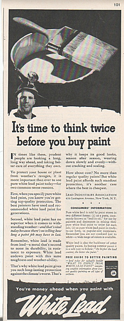 White Lead Paint ad - 1942 (Image1)