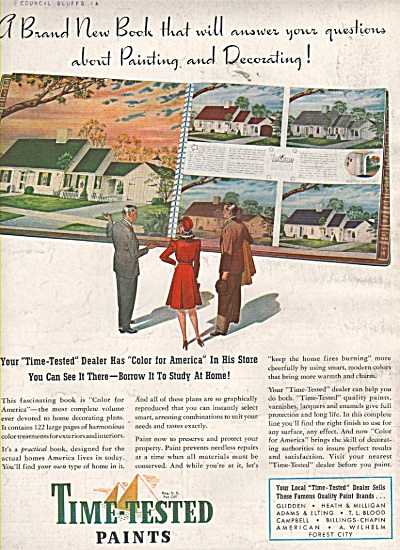 Time tested paints ad  1942 (Image1)