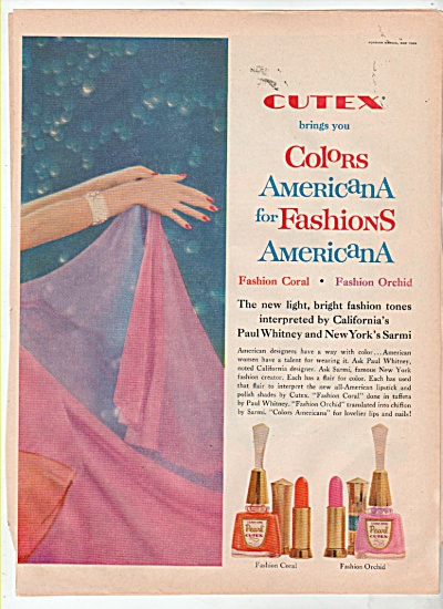 Cutex new fashion tones ad 1960 (Image1)