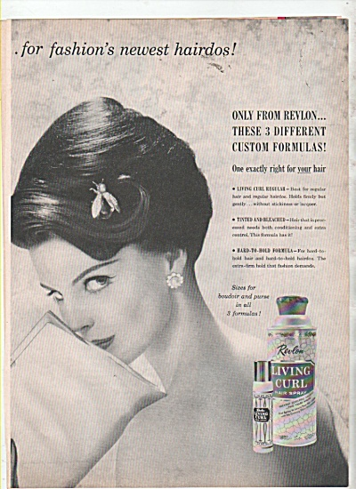 Living Curl From Revlon Ad 1960