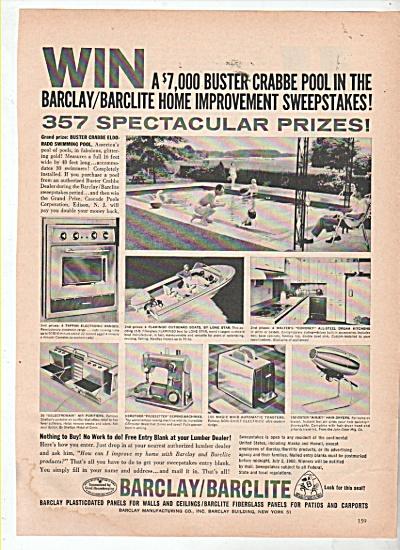 Barclay/Barclite fiberglass panels ad 1960 (Image1)