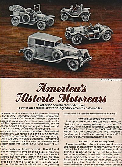 America's historic motorcars ad 1981 (Image1)