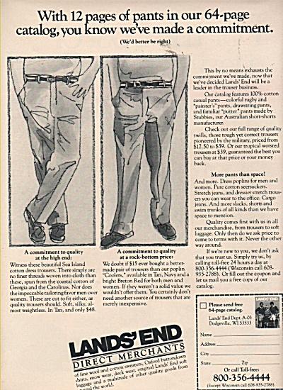 Lands End -  direct merchants ad 1981 (Image1)