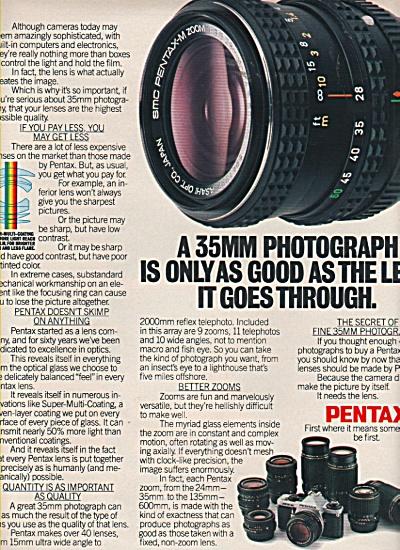 Pentax camera ad 1981 (Image1)