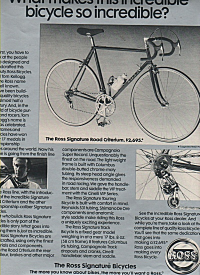 Ross bicycles ad  1981 (Image1)