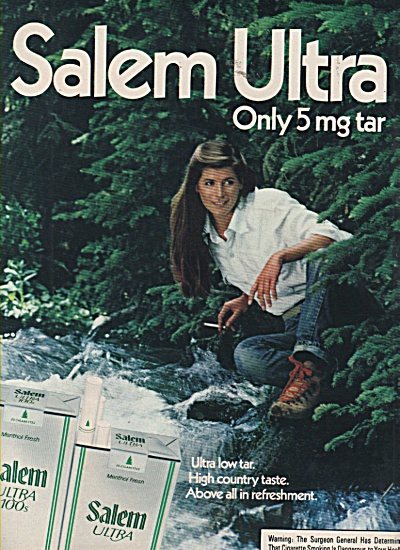 Salem ultra cigarettes ad 1981 (Image1)