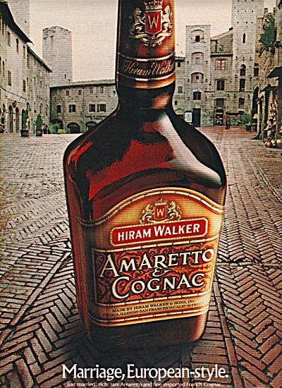 Hiram Walker amaretto & cognac ad 1981 (Image1)