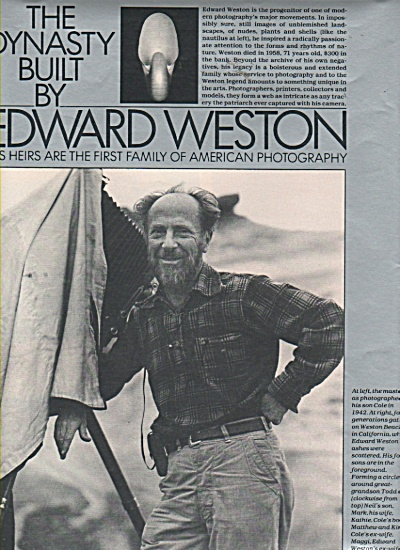 The dynasty built by EDWARD WESTON  story 1981 (Image1)