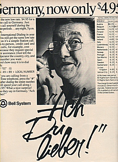 Bell system -  Germany now only $4.95 ad1981 (Image1)