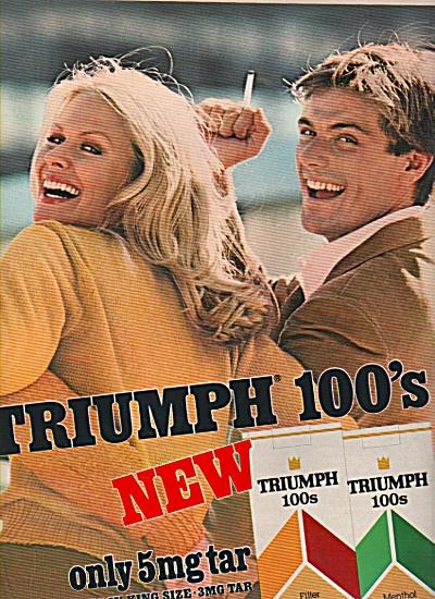 Triumph 100s cigarettes ad 1981 (Image1)