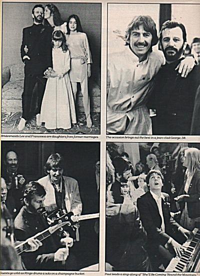 Wedding Ringo Starr Barbara Bach 1981