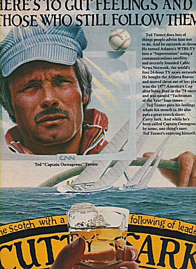 Cutty Sark scotch ad  1981  -TED TURNER (Image1)