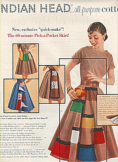 Indian Head Mills Inc. ad 1955 (Image1)