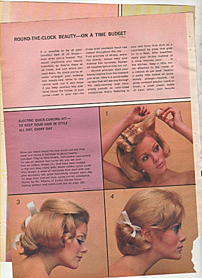 Round the clock beauty - Model in hair styles 1969 (Image1)