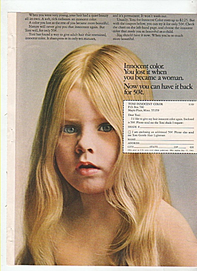 Toni innocent color ad 1969 (Image1)