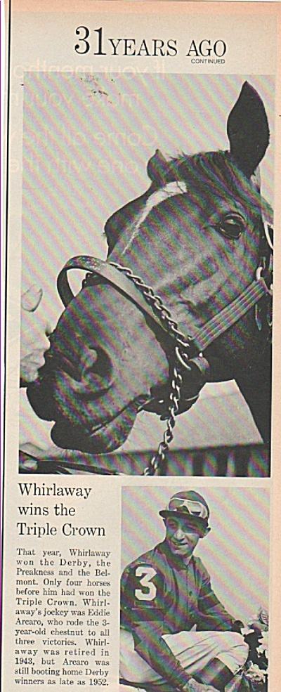 WHIRLAWAY  wins the Triple crown- EDDIE ARCARO (Image1)