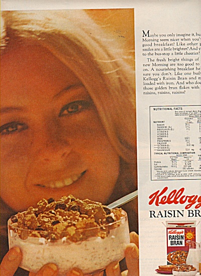 Kellogg's Raisin bran ad 1972 (Image1)