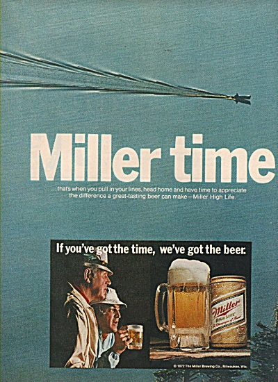 Miller high life beer ad 1972 (Image1)
