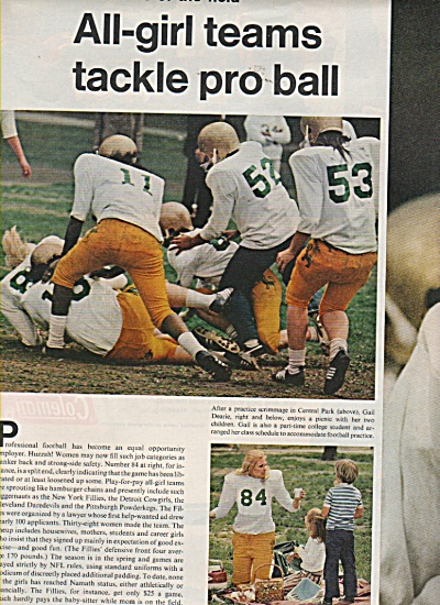 All girl football teams story - 1972 (Image1)