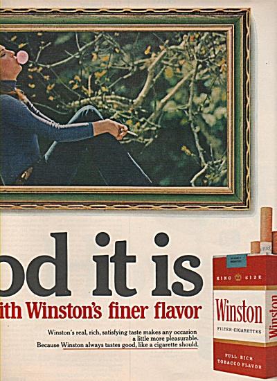 Winston filter cigarettes ad 1972 (Image1)
