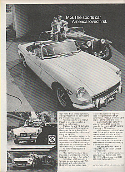 MG sports car ad 1972 (Image1)