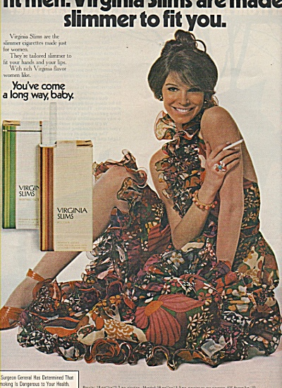 Virginia slims ad 1972 FASHION MODEL (Image1)