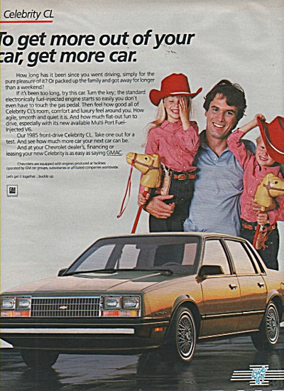 Chevrolet Celebrity CL auto ad 1984 (Image1)