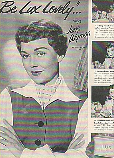 Lux soap - JANE WYMAN  ad 1951 (Image1)