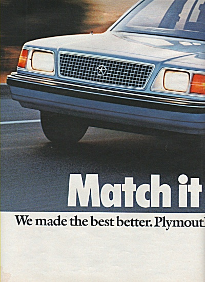 Plymouth Reliant auto ad 1984 (Image1)