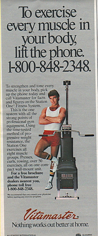 Vitamaster exercising machine ad 1984 (Image1)