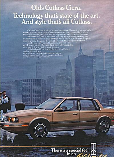Oldsmobile Cutlass Ciera ad 1984 (Image1)
