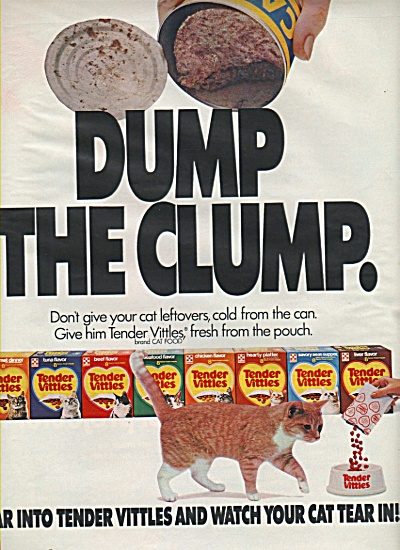 Tender vittles cat food ad 1984 (Image1)