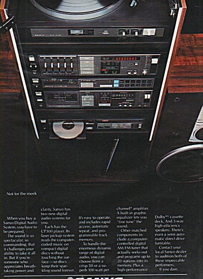 Sanyo audio system ad 1984 (Image1)