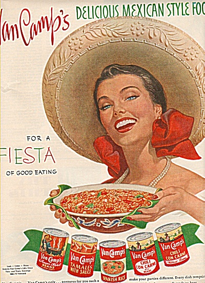Van Camp's mexican style foods ad 1951 (Image1)