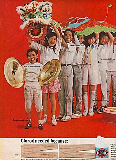 Clorox bleach  soap ad 1968 (Image1)