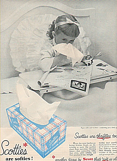 Scotties cleansing tissues ad 1951 (Image1)