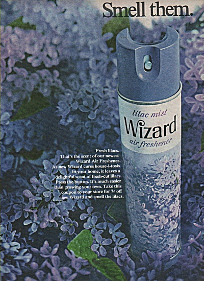 Wizard air freshener ad  1968 (Image1)