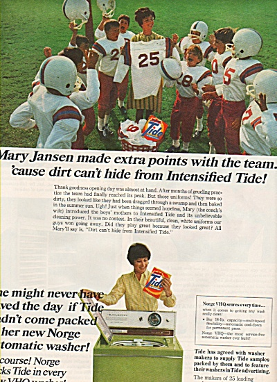 Tide laundry soap ad 1968 (Image1)