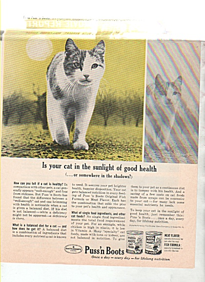 Puss'n Boots cat food ad 1963 (Image1)