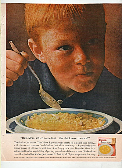 Lipton chicken rice soup mix ad 1963 (Image1)